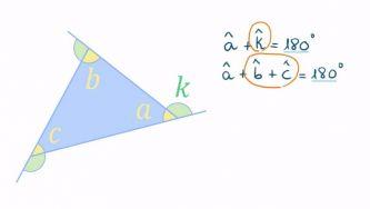 A soma dos ângulos externos de um triângulo