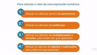 Cálculo do valor de expressões numéricas