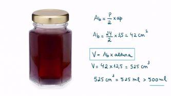 Medida do volume de um prisma